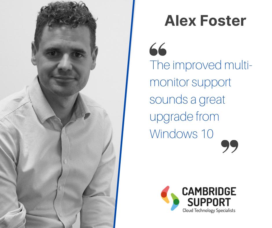 Alex Foster's Quote on Windows 11